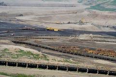 Die Tagebaugrube lizenzfreies stockbild