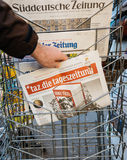 Die tageszeitung with Deniz Youcel on cover Stock Photo