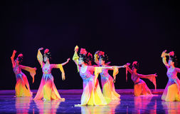 Die Tang Dynasty-Palastmusik und -tanz Lizenzfreies Stockfoto