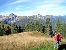 Die Tannheim-Berge im Herbst Stockfotografie