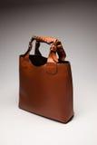 Die Tasche Brown-Frau Stockfotografie