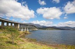 Die Tasman Brücke in Hobart lizenzfreies stockbild