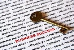 Die Taste von Geschäftserfolg lizenzfreies stockbild