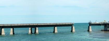 Die Tasten gebrochene Brücke Lizenzfreies Stockbild