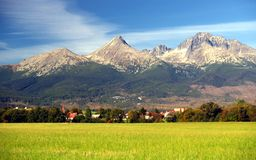 Die Tatra Berge am Sommer Lizenzfreies Stockbild