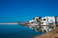 Die Taverne der Insel von Mykonos Stockfoto