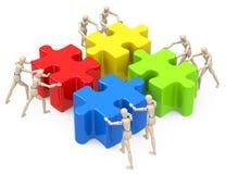 Die Teamwork Lizenzfreie Stockfotos