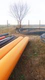 Die Teile für Abwasserkanalwasser laufen, Rohre aus Lizenzfreies Stockfoto