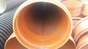 Die Teile für Abwasserkanalwasser laufen, Rohre aus Lizenzfreies Stockbild