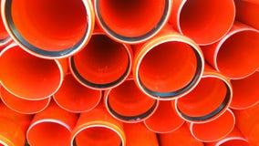 Die Teile für Abwasserkanalwasser laufen, Rohre aus Lizenzfreie Stockbilder