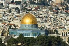 Die Tempel-Montierung in Jerusalem. Lizenzfreie Stockfotos