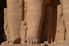 Die Tempel von Abu Simbel in Ägypten Stockbilder