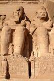 Die Tempel von Abu Simbel in Ägypten Stockbild