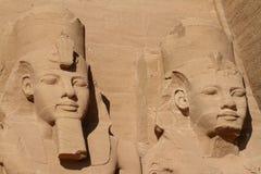 Die Tempel von Abu Simbel in Ägypten Lizenzfreie Stockfotos