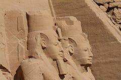 Die Tempel von Abu Simbel in Ägypten Lizenzfreie Stockbilder