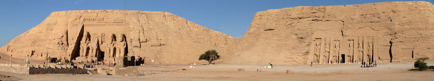 Die Tempel von Abu Simbel in Ägypten Lizenzfreie Stockfotografie
