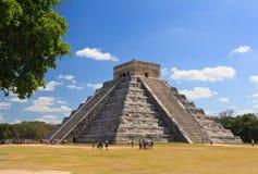 Die Tempel von chichen itza Tempel in Mexiko Stockbilder
