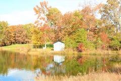 Die Tennessee-Hügel werden mit kleinen Seen und Teichen punktiert stockfoto