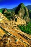 Die terassenförmig angelegte Stadt von Machu Picchu Stockfoto