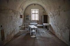Die Terezin-Festung, in der sie vor einigen Jahren schrecklich war stockbild