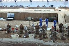 Die Terrakotta-Armee von Xian Stockbild