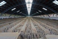 Die Terrakotta-Armee in Xi'an Lizenzfreies Stockfoto