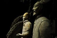 Die Terrakotta-Krieger und die Pferde Stockfotos