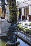 die Terrasse am Achilleions-Palast auf der Insel von Korfu Griechenland errichtet von der Kaiserin Elizabeth von Österreich Sissi Lizenzfreie Stockbilder