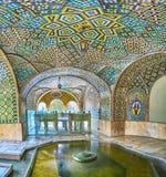Die Terrasse mit Brunnen in Golestan, Teheran Stockfotografie