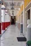 Die Terrasse von Achilleions-Palast, Korfu, Griechenland Stockfotografie