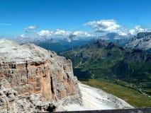 Die Terrasse von Dolomit Italien Europa stockfotografie