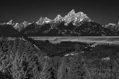 Die Teton-Strecke und der Snake River, Wyoming lizenzfreies stockfoto