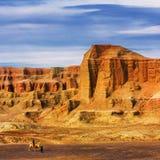 Die Teufelstadt in Xinjiang China Stockbilder