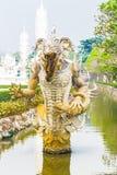 Die Teufelstatue bei Wat Rong Khun Chiangrai Province Lizenzfreie Stockbilder