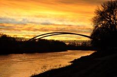 Die Theiß der goldene Fluss Stockfoto