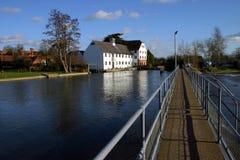 Die Themse an der Hambleden Verriegelung Lizenzfreies Stockfoto