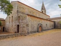 Die Thoronet-Abtei in Frankreich Lizenzfreie Stockbilder