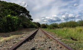Die Tiefe der Bahnstrecken stockbilder