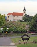 Die Tihany-Abtei bei Plattensee, Ungarn Stockfoto