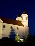 Die Tihany Abtei nachts Lizenzfreie Stockfotografie