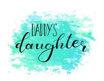 Die Tochter des Vatis Entwurf für Babyt-shirts stock abbildung