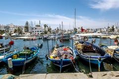 Die Tore zum Jachthafen in Hafen-EL Kantaoui Stockfoto