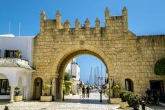 Die Tore zum Jachthafen in Hafen-EL Kantaoui Stockfotos