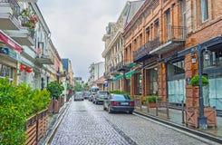 Die touristische Nachbarschaft von Batumi Lizenzfreie Stockfotos