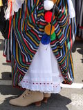 Die traditionelle Landestracht der Frau von La Orotava, Teneriffa in den Kanarischen Inseln Stockfotografie