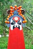 Die traditionelle Opern-Maske des Porzellans Stockbild