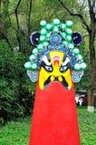 Die traditionelle Opern-Maske des Porzellans Lizenzfreie Stockbilder