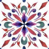 Die traditionellen Fliesen Dekorative Fliesen Traditionelle Fliesen Spaniens, Portugal Muster 08 watercolor vektor abbildung