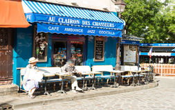 Die traditionellen französischen Café Au clairon DES-chasseurs, Paris, Fra Lizenzfreies Stockfoto