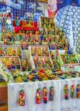 Die traditionellen hölzernen Puppen Stockfotos